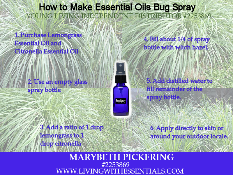 Essential Oils Bug Spray - How to Make
