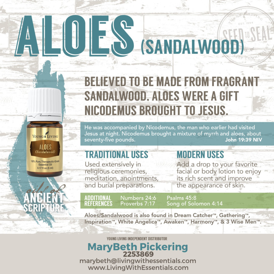 Essential Oils in the Bible - Aloes (Royal Hawaiian Sandalwood) Essential Oil