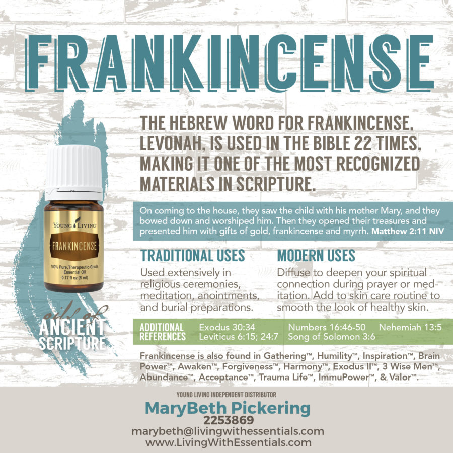 Essential Oils in the Bible - Frankincense Essential Oil
