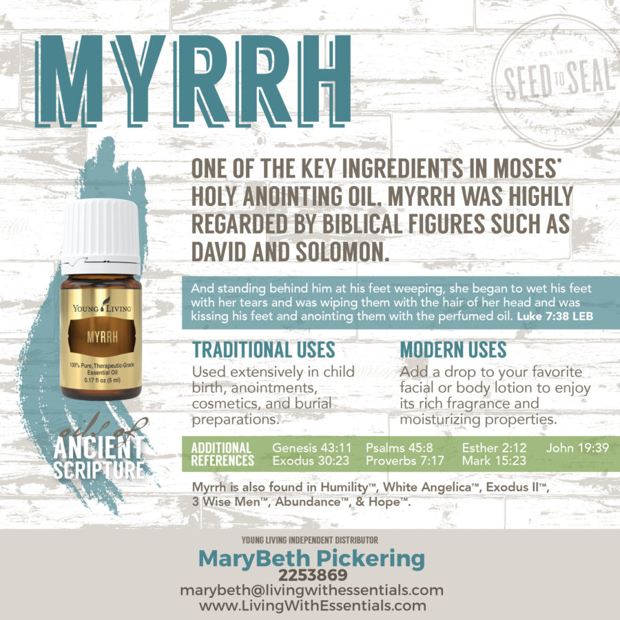 Essential Oils in the Bible - Myrrh Essential Oil