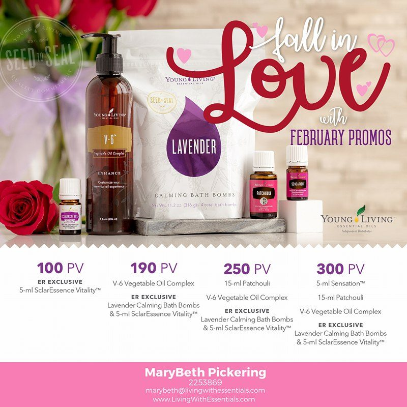 Fall in Love - with the Young Living February 2018 PV Promo