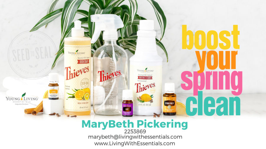 Boost Your Spring Cleaning - with the Young Living March 2018 PV Promo
