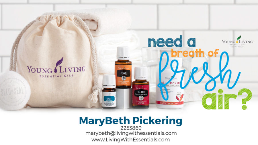 Take a Breath of Fresh Air - with the Young Living April 2018 PV Promo