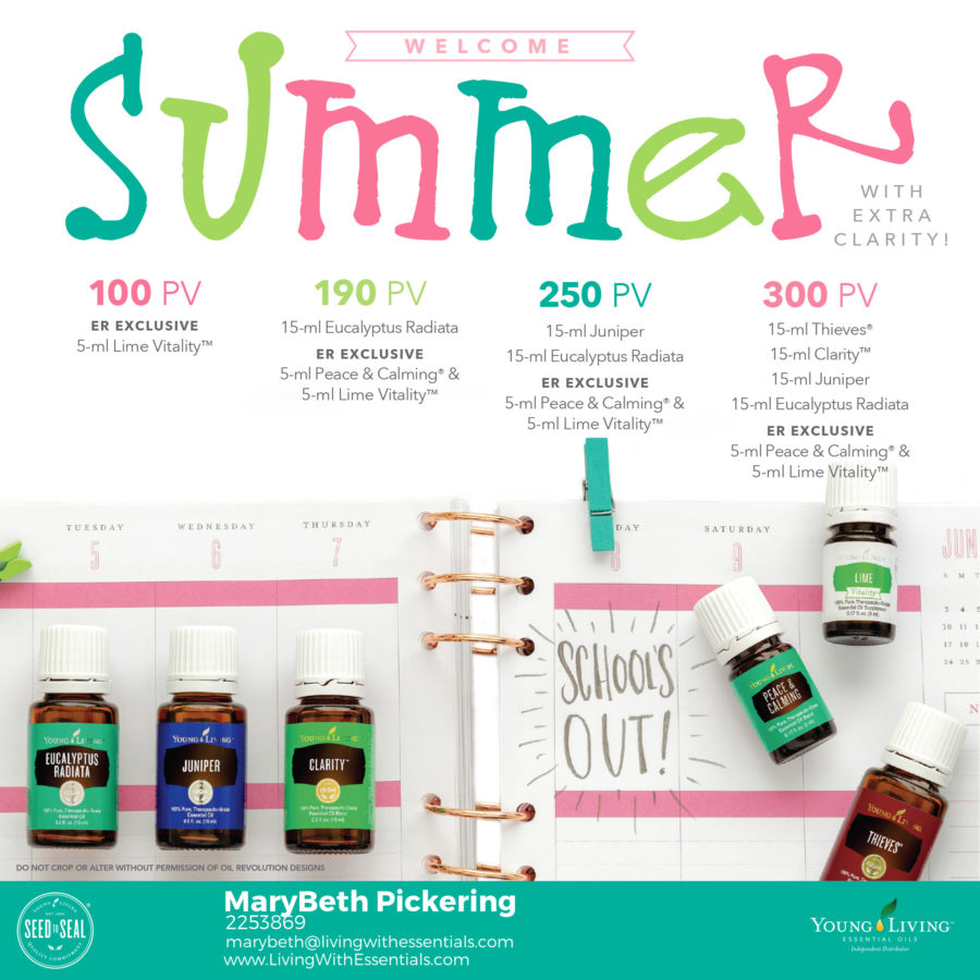 Welcome Summer with some extra Clarity- with the Young Living May 2018 PV Promo!