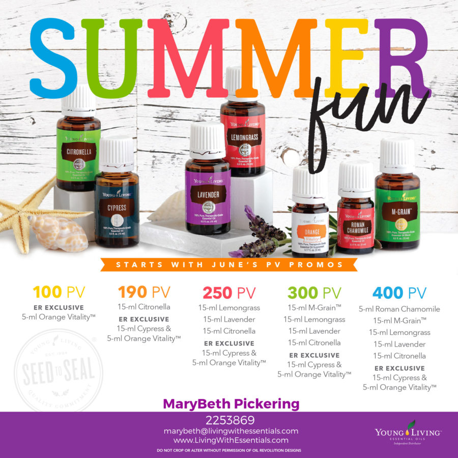 Start Your Summer Fun - with the Young Living June 2018 PV Promo!