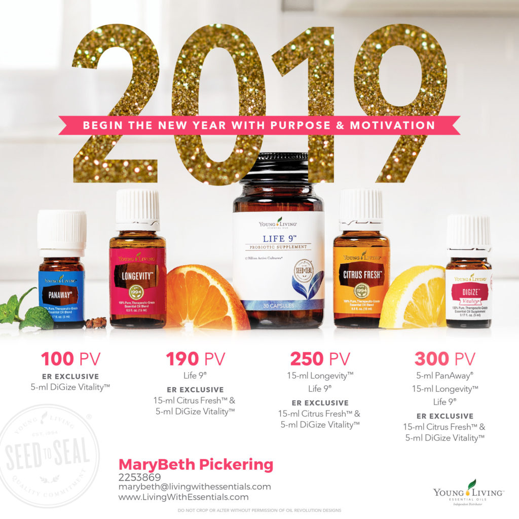 Begin the New Year with Purpose & Motivation - with the Young Living January 2019 PV Promo!